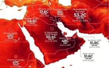 科威特多地气温超50℃ 2021高温天气喝什么防中暑